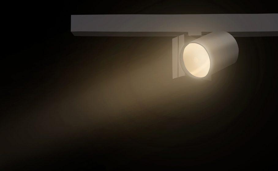 Luminario con reflector integrado.