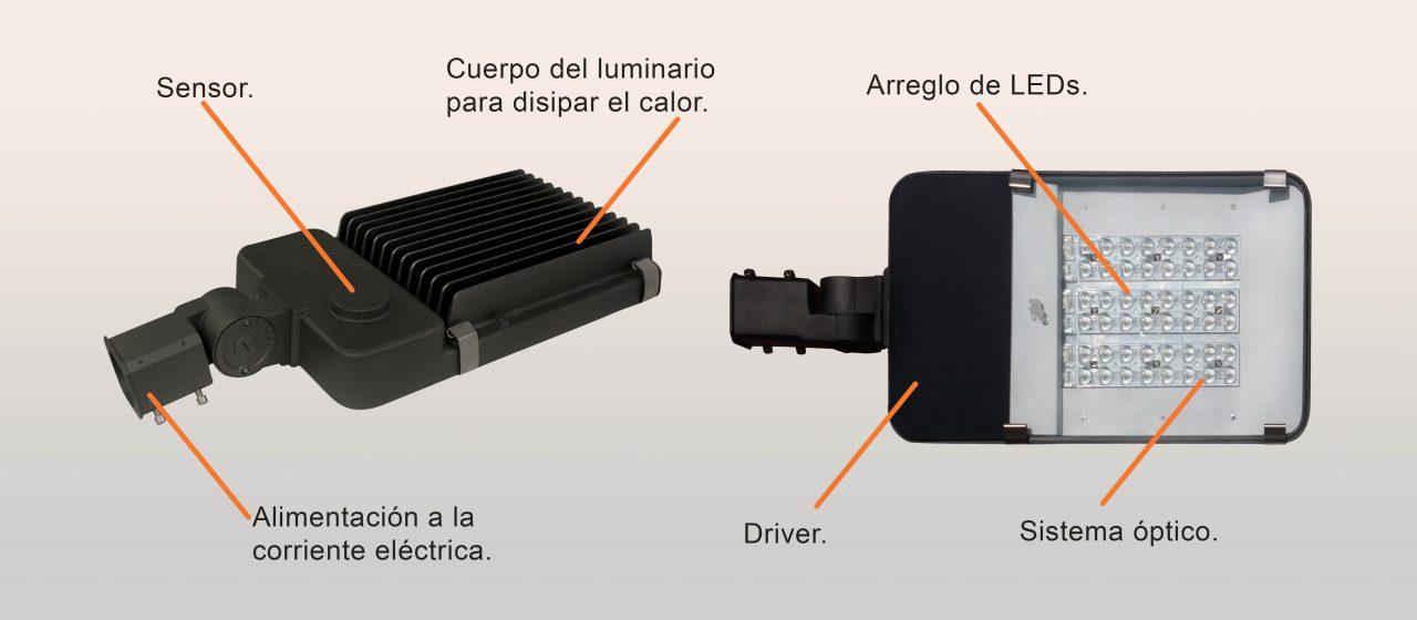 Luminario LED Integrado