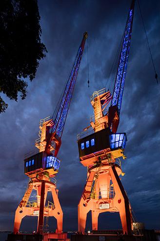 Pier Mauá Cranes