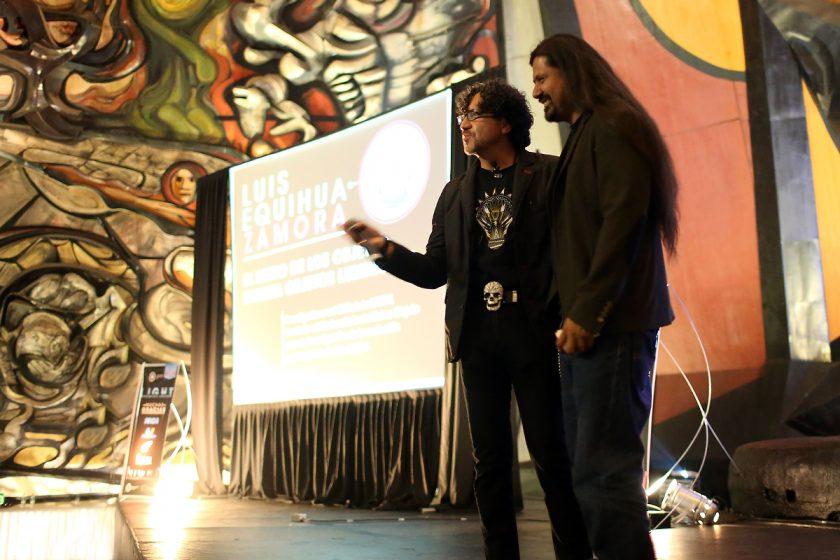 Noriegga junto a Said Dokins, artísta plástico e investigador