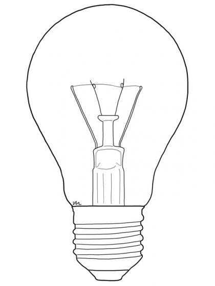 Lámpara incandescente formato A19