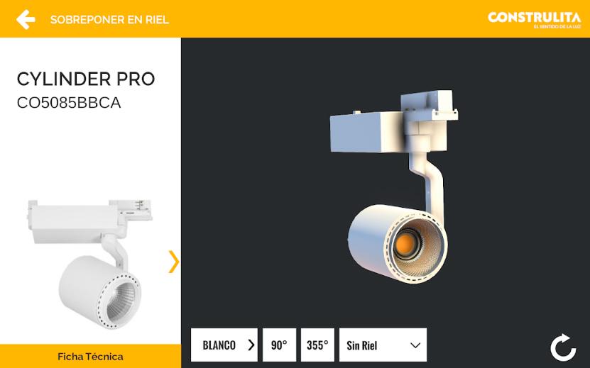 Apps de Iluminación - Construlita Catálogo 3D