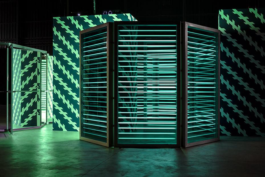 Carsten Höller - Double Neon Elevator